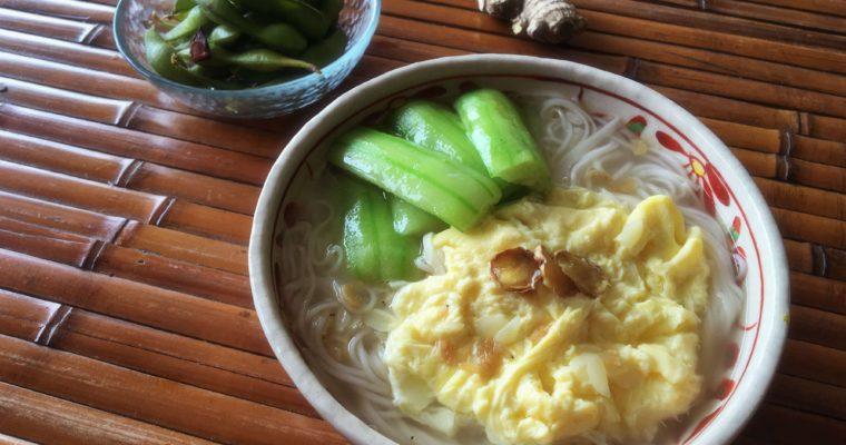 【絲瓜雞蛋麵線】夏季一碗,美味消水腫