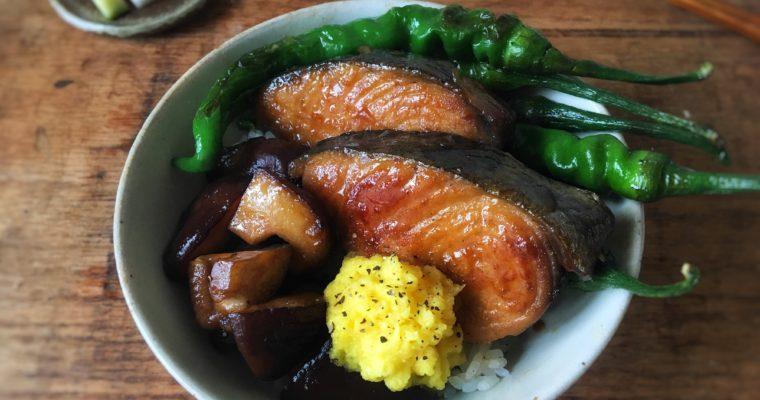 【蛋黃蘿蔔泥 與 照燒土魠魚】當季的時蔬與海味的相遇