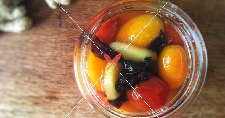 訂戶獨享【紫蘇薑味醋漬番茄】泰式風味涼拌海鮮、甜點、泡茶都適用