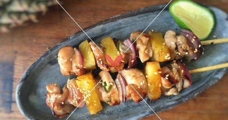 【鳳梨雞肉BBQ】一串在手,美味無窮