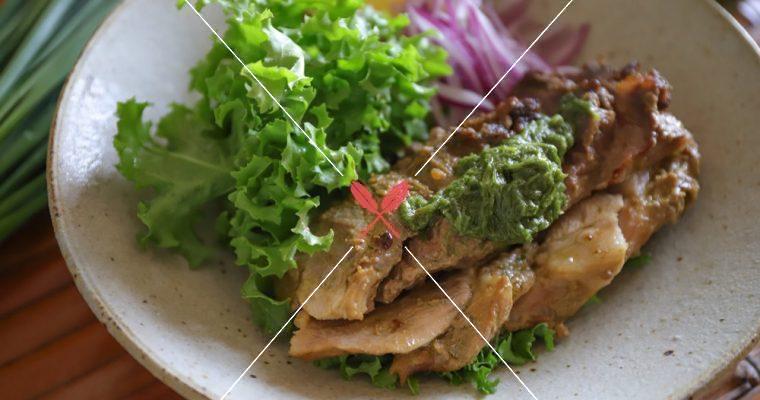 訂戶獨享【韭菜油醬與韭菜腐乳烤豬】自製韭菜油醬,變健康烤肉醬!
