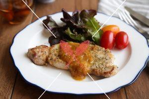 pork-chop-with-yellow-plum-onion-sauce