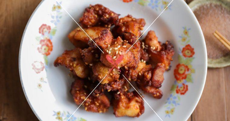 【鳳梨辣椒豆乳雞】香脆多汁,快速預醃就很夠味