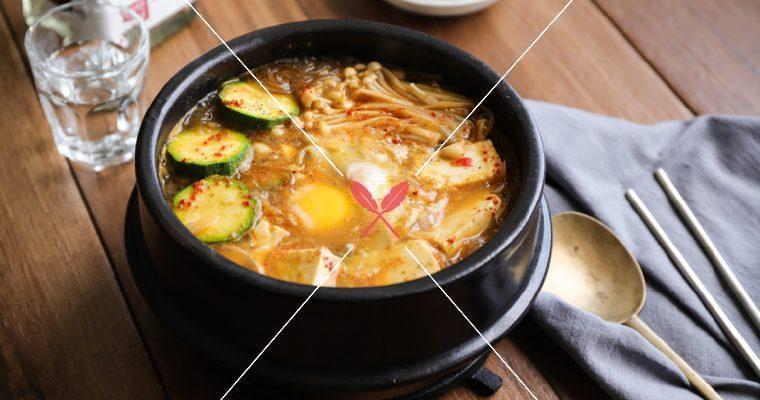 【拌醬味噌豆腐冬粉煲】神似韓國的大醬湯,素食者也可食!