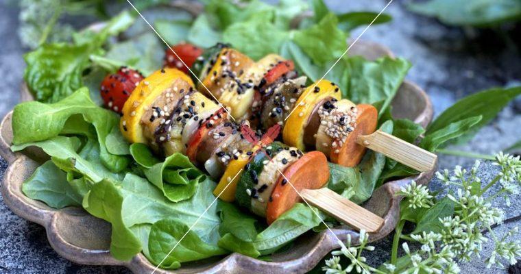 【味噌天貝串燒】打造喜愛的蔬菜瓜果組合,無肉也歡!